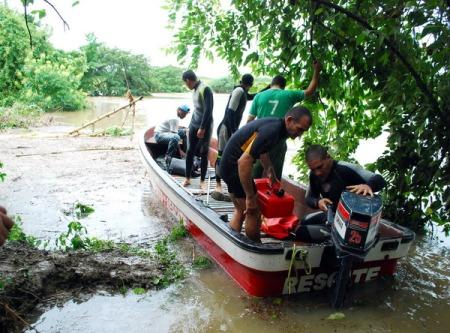 Rescate en presa Palmarito